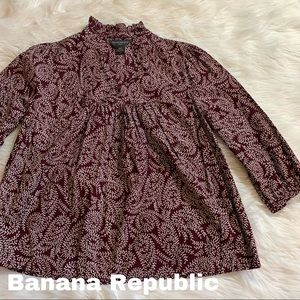 Banana Republic size L Large blouse burgundy EUC